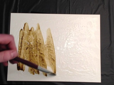 How to create a faux-metallic surface using acrylic paint