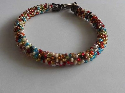 How To Crochet Bright Bead Bracelet - DIY Crafts Tutorial - Guidecentral