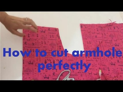 How to cut armhole perfectly