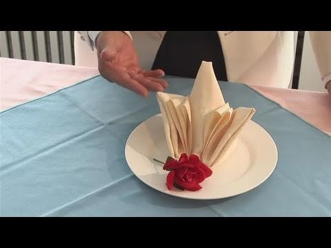 How To Fold A Table Napkin Into A Rose