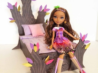 How to make a Cedar Wood doll bed tutorial - Ever After High