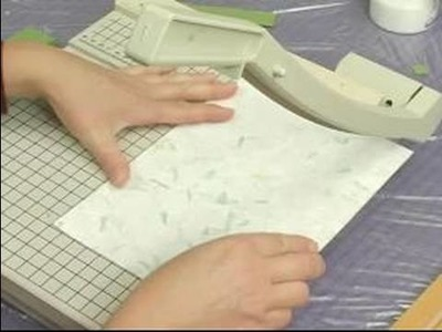 How to Make a Decoupage Tabletop : How to Cut Paper for a Decoupage Tabletop
