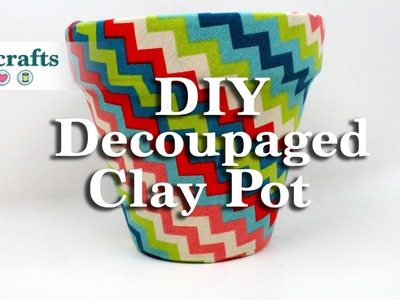 How to Make a Decoupaged Clay Pot