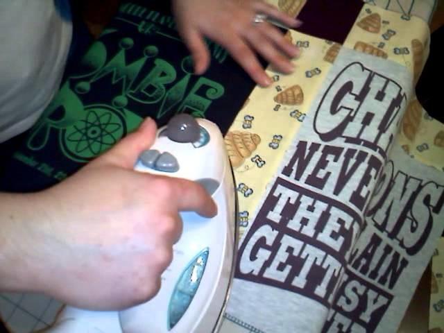 How to make a T-shirt quilt - Part 6