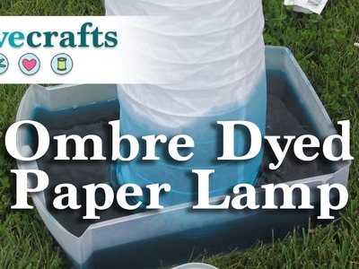 How To Ombre Dye a Paper Lamp - Easy DIY Project