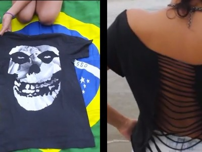 How to turn a t-shirt into a cut out t-shirt
