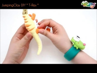 Jumping Clay Tutorial - How to make a T-Rex