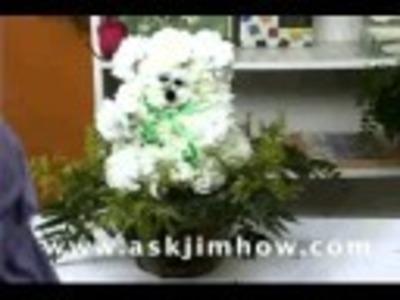 Make a Bear of Flowers