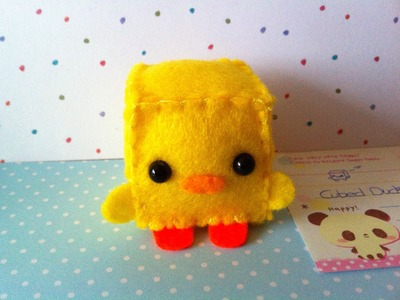 Making a Cute ''Cubed Duck'' Plushie