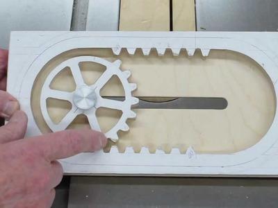 Making The Reciprocating Rack & Pinion