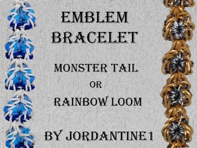 New Emblem Bracelet - Monster Tail or Rainbow Loom