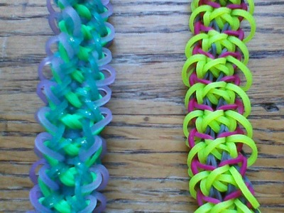 NEW Rainbow Loom Lása Bracelet