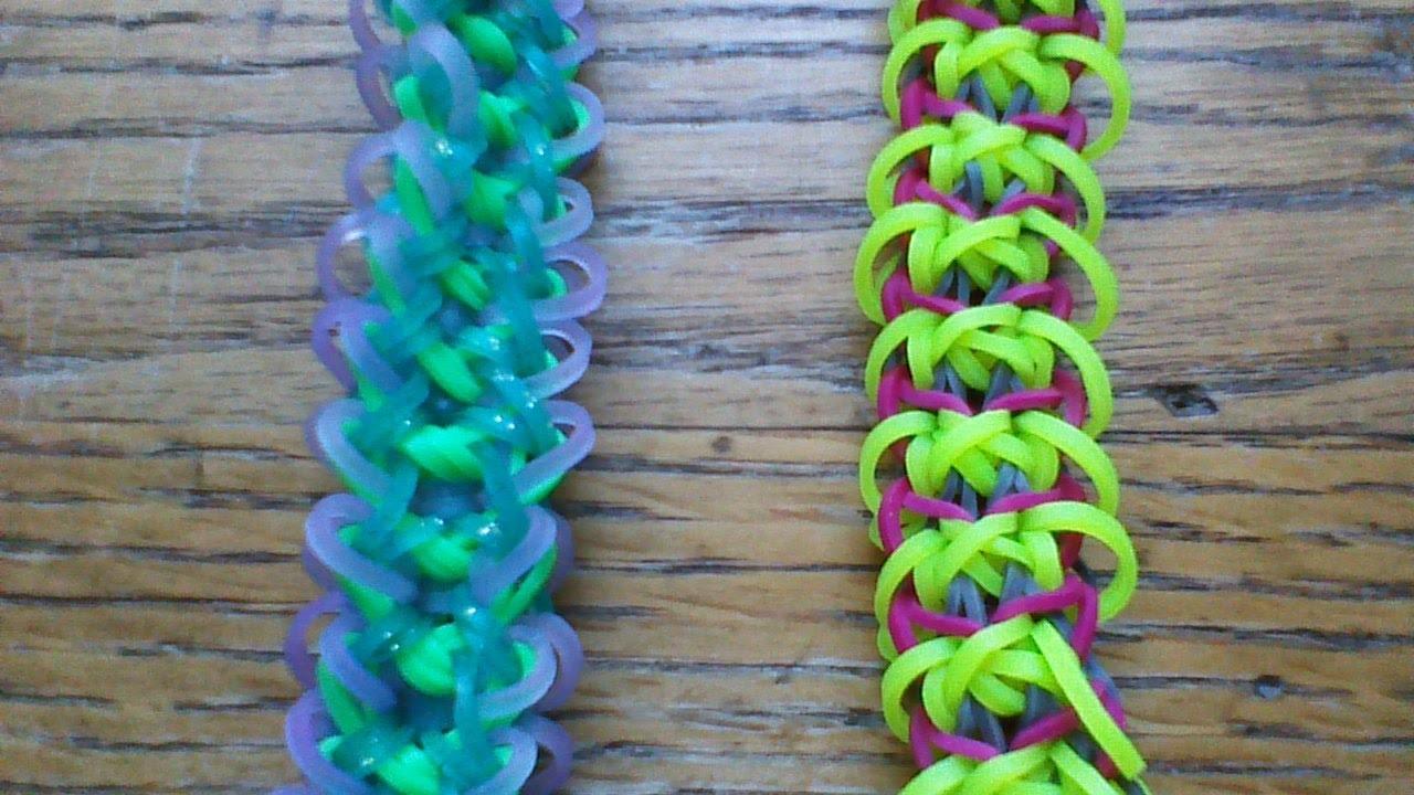 NEW Rainbow Loom Lása Bracelet