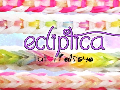 NEW REVERSIBLE Ecliptica Rainbow Loom Bracelet Tutorial | How To