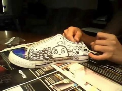 Painting shoes