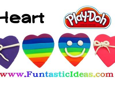 Play Doh Heart.Rainbow Heart.Valentine's Easy Fun for Kids