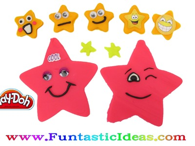 Play Doh Twinkle Twinkle Little Star.Smiley Stars - How to tutorial with playdough