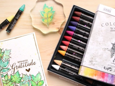Prima Water Soluable Oil Pastels with Stamps - First Look & Impressions