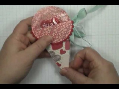Quick & Easy Stampin' Up! Petal Cone Treat Pouch