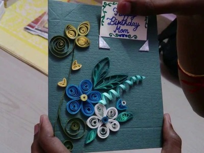 Quilled Greeting card - customized video cards delivered to your loved ones