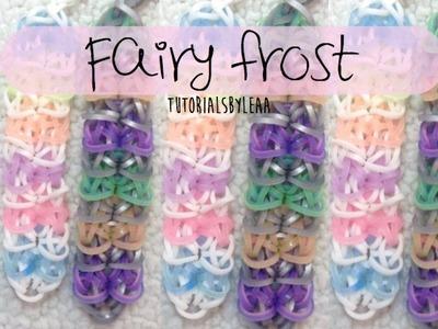 Rainbow loom FAIRY FROST bracelet Tutorial