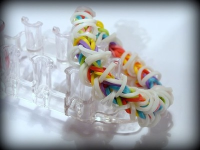 Rainbow Loom Monster Tail Armband. Fishtail Bracelet Var. 4. Loom Bands Anleitung deutsch