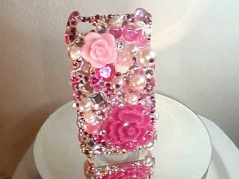 RARE IPHONE 4G CASE WITH SWAROVSKI CRYSTALS AND PEARLS!! by CRYSTAL-RIDERS.COM