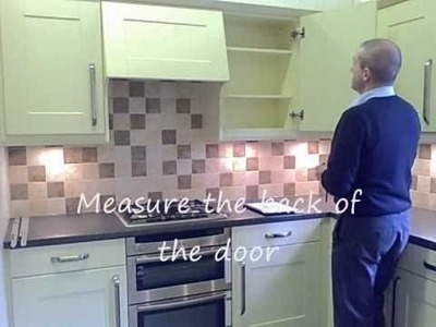 Replacement Kitchen Doors - How to measure and fit kitchen doors and drawer fronts
