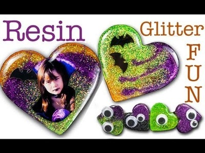 Resin Glitter Fun for Halloween - Jewelry, Clips, Magnets, More!