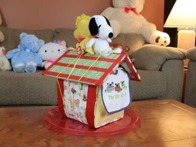 Snoopy's Doghouse Diaper Cake (How To Make)
