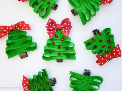 The RABOM Christmas Tree Ribbon Sculpture Hairclip