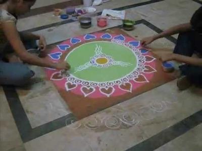 Time Lapse Rangoli in diwali
