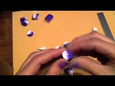 Tutorial murrina fiore viola pt 1