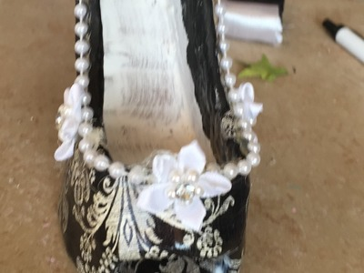Zapato joyero de carton A Mi Estilo Boricua Cuarta Y Ultima  Parte
