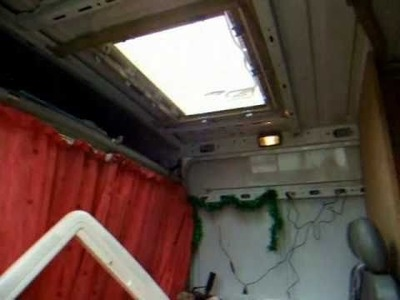 14. Make, build, construct, and DIY your motorhome. Fitting of the Midi Heki Rooflight