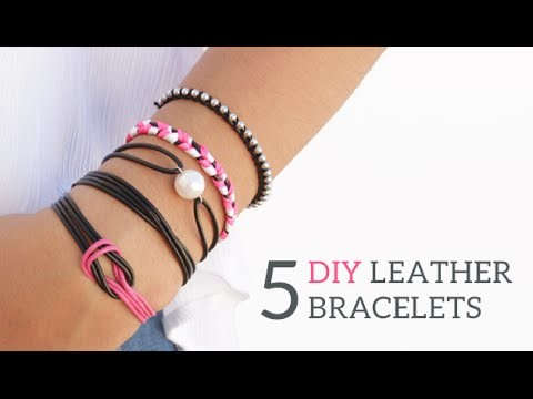 5 DIY Friendship Leather Bracelets