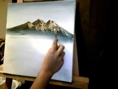 Acrylic Mountain Painting