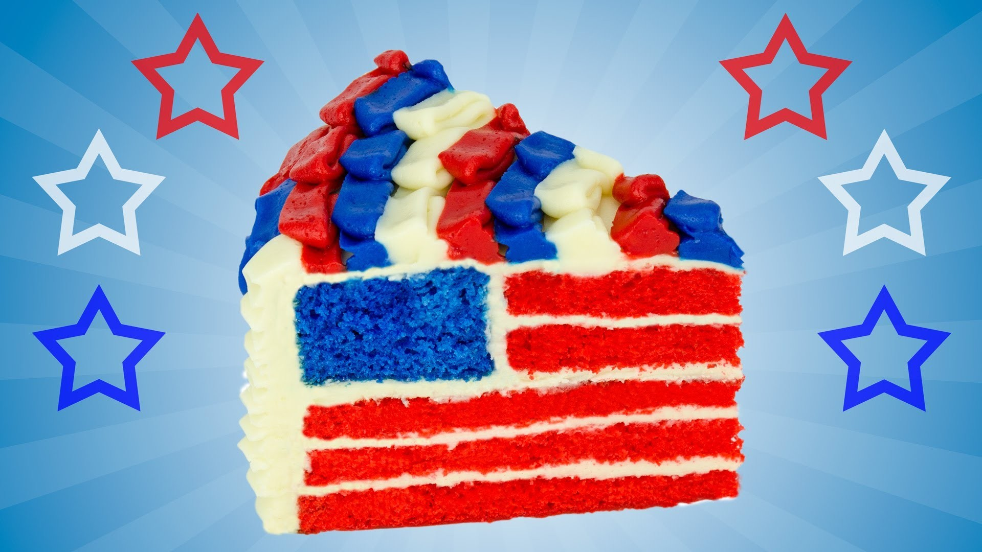 American Flag Cake for The 4th of July Dessert by Cookies Cupcakes and Cardio