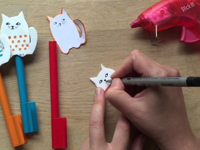 Back to School Pencil Toppers - Craft Foam Cats