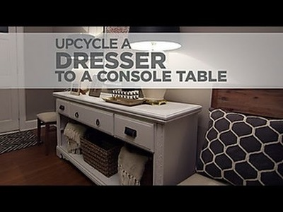 Budget Decorating a DIY Upcycled Console Table