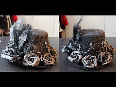 DIY: Decorating a (top) hat for lolita. kodona. ouji. aristocrat (tutorial)