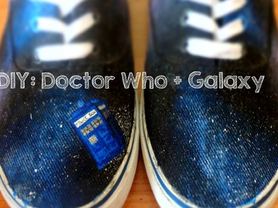 DIY: Doctor Who_ galaxy shoes