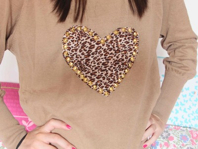 DIY: Heart Sweater with Studs  l xRazushx3