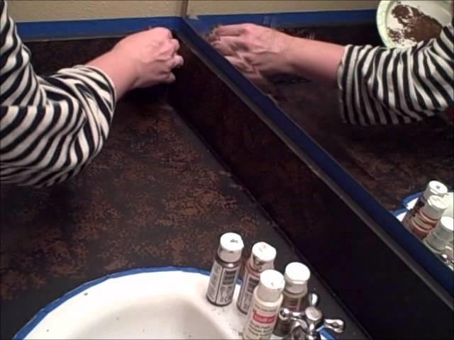 DIY: It's Faux Granite Countertop Time! Part 6
