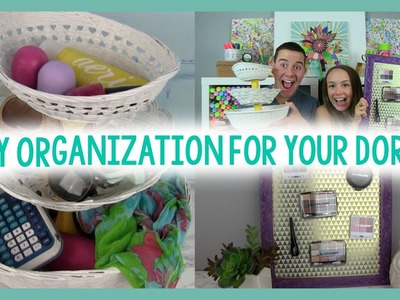 DIY ORGANIZATION FOR YOUR DORM | ROOM DECOR | DORM LIFE HACK