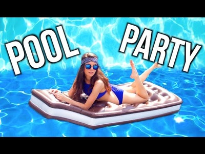 DIY Pinterest Pool Party ! Decorations + Snacks!