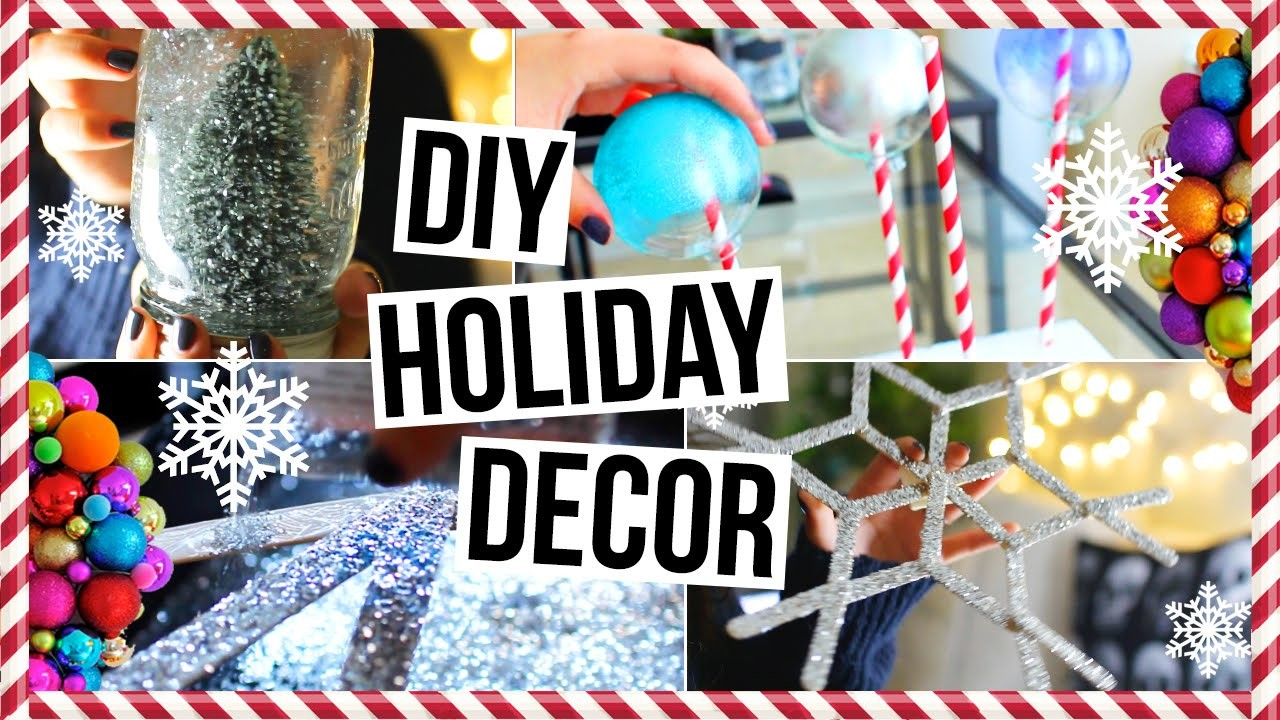 DIY Tumblr Holiday Room Decor! Easy & Cheap Decorations for Your Room! + GIVEAWAY