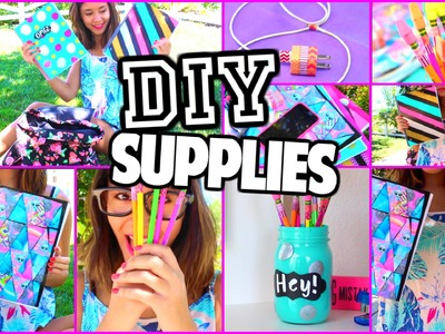 EASY DIY Back-To-School Supplies! BTSwithHales