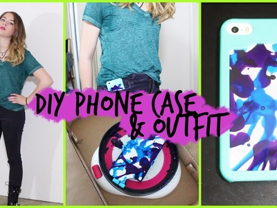 Easy & Fast DIY Spin Art Phone Case +OOTD! .  #DIYwithPXB