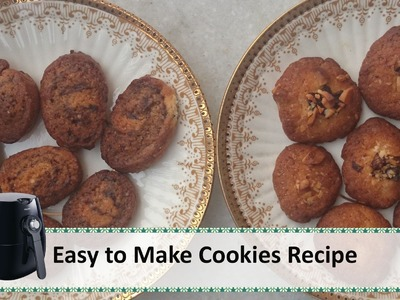 Easy to bake Cookies Recipe | Philips airfryer recipes by Healthy Kadai